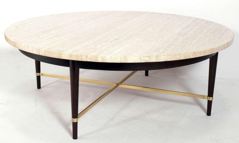 Round Travertine Coffee Table
