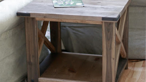 Rustic End X Table