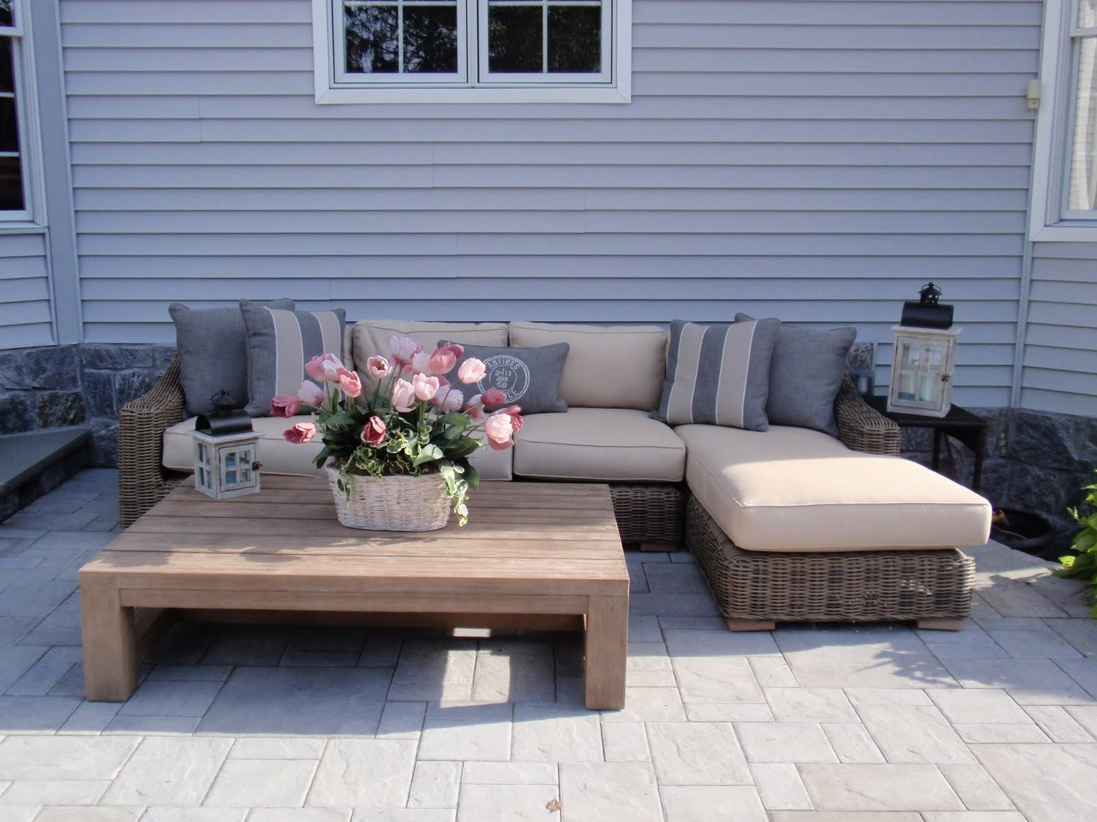 Rustic Outdoor Coffee Table