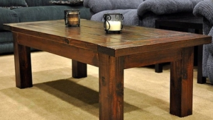 Rustic Solid Wood Coffee Table