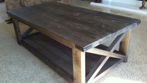 Rustic Wood X Coffeetable
