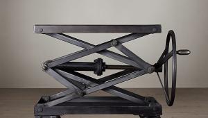 Scissor Lift Metal Coffee Table