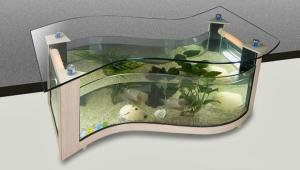 Shaped Aquarium Coffee Table