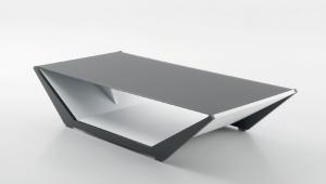 Shaped Grey Coffee Table