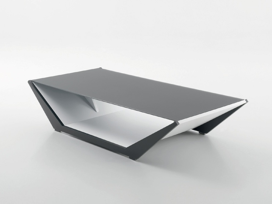 Shaped Grey Coffee Table