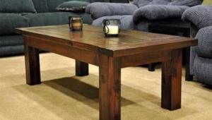 Simple Rustic Wood Coffee Table