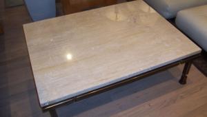 Simple Travertine Coffee Table