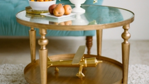 Small Gold Coffee Table