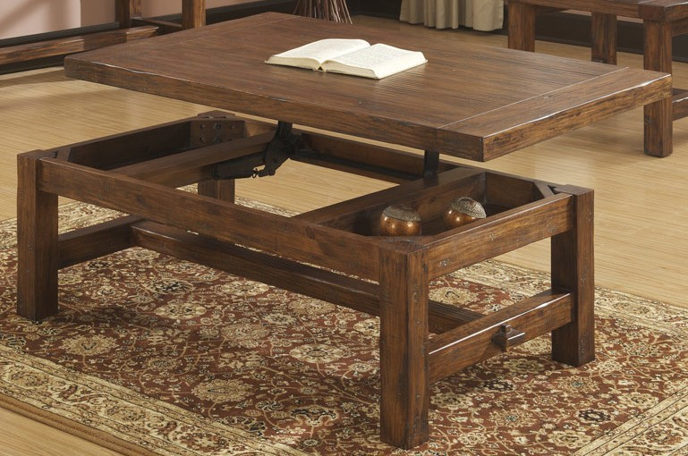 Solid Wood Coffee Table With Lift Top