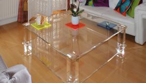 Split Level Acrylic Coffee Table