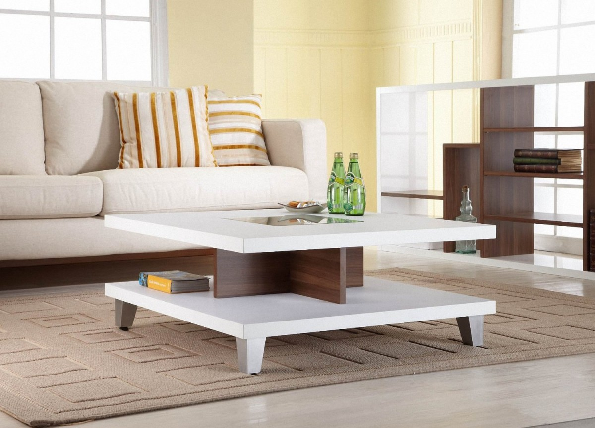 Square Divided Coffee Table Idea