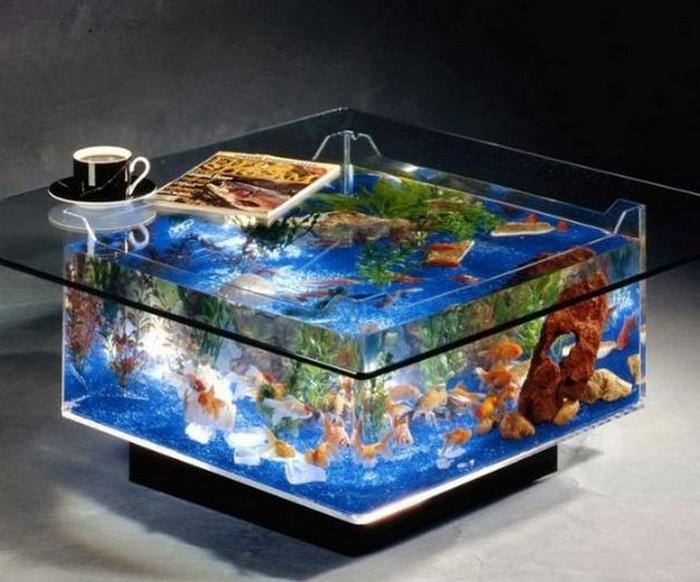 Square Fish Tank Coffee Table