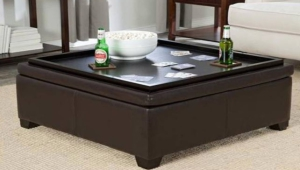 Square Ottoman Coffee Table Tray