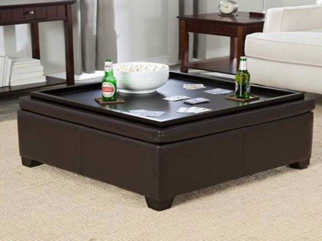 Square Ottoman Coffee Table Tray