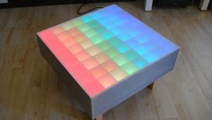 Square RGB Led Coffee Table