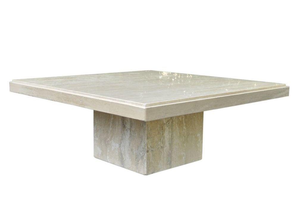 Square Travertine Coffee Table
