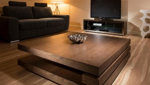 Stylish Dark Wood Coffee Table