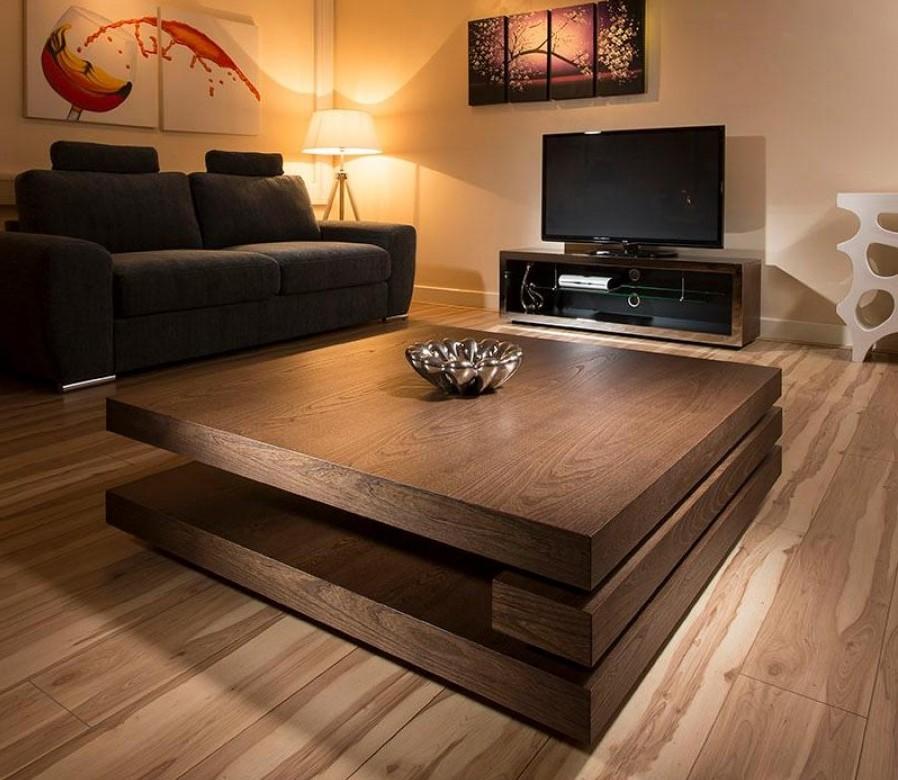 Stylish Dark Wood Coffee Table