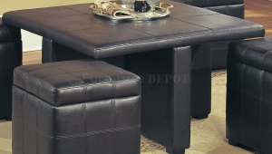 Stylish Leather Coffee Table