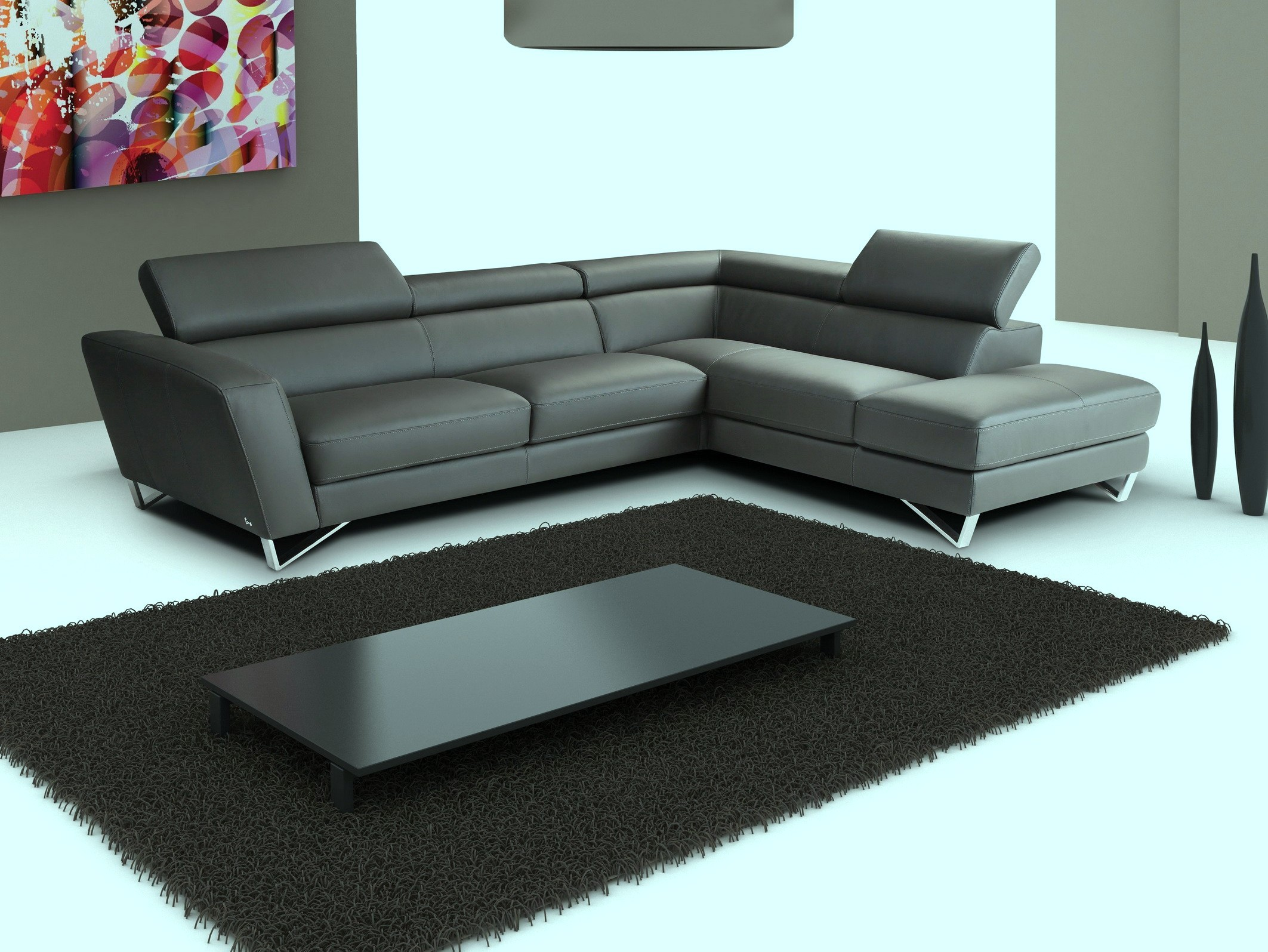 Super Low Black Coffee Table