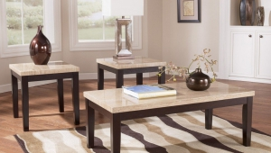 Travertine Coffee Table Set
