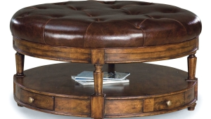 Tufted Ottoman Leather Top Coffee Table