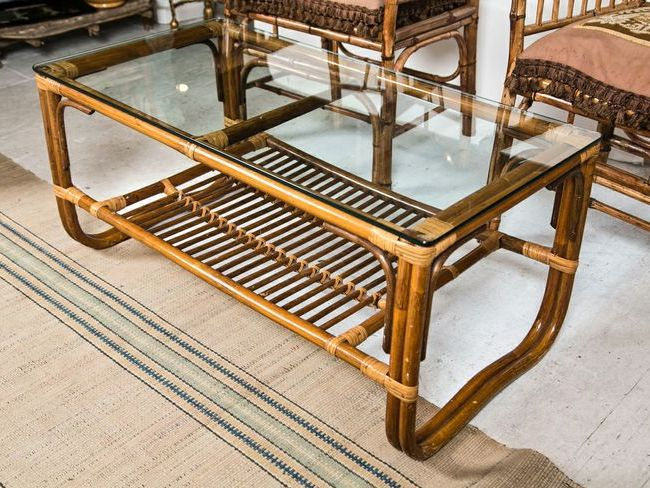 Two Tier Bamboo Coffee Table