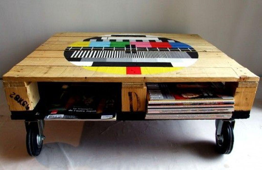 Unusual Pallet Coffee Table