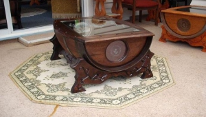 Unusual Wine Barrel Coffee Table