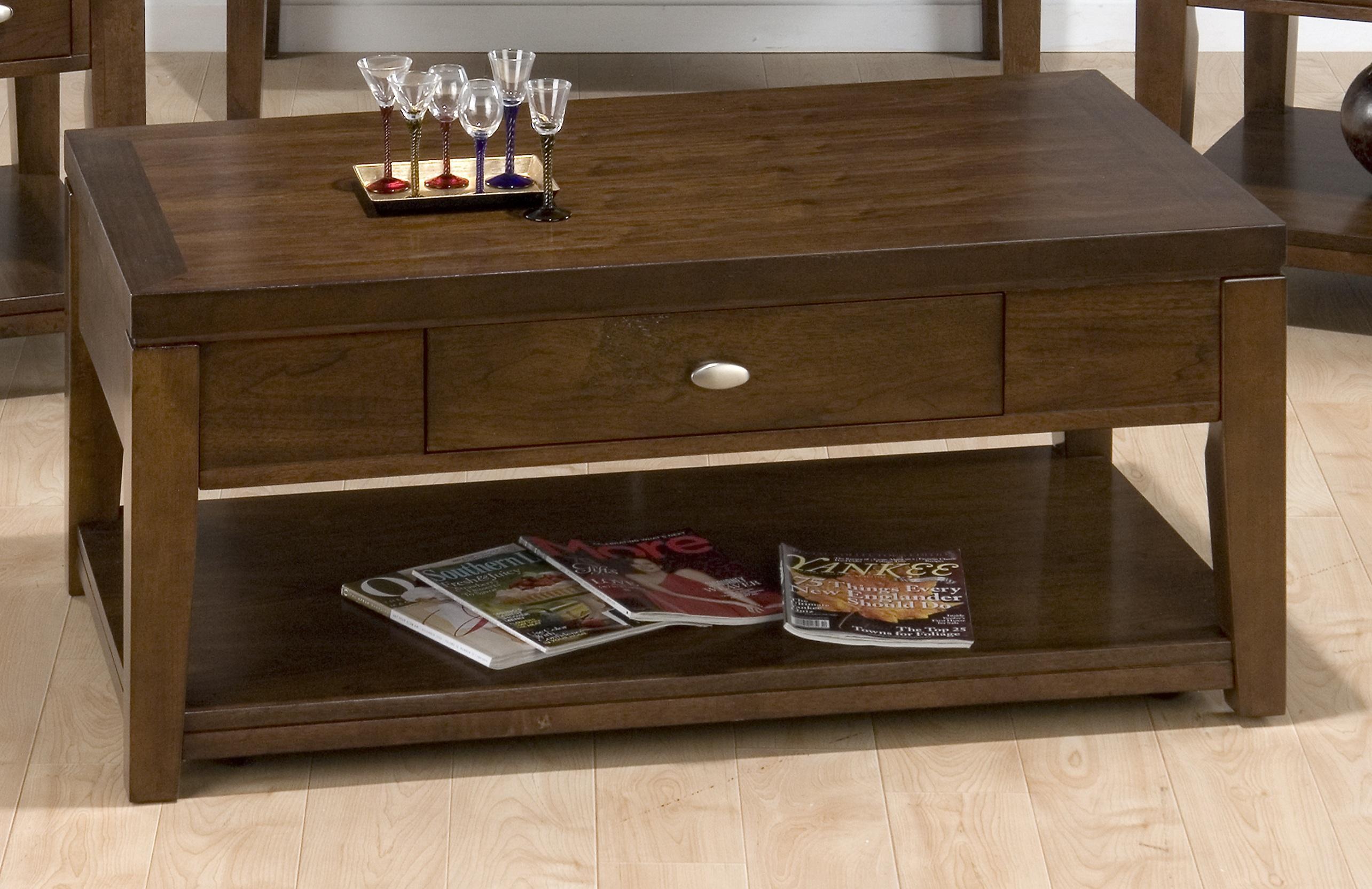 Walnut Coffee Table With Open Shelf