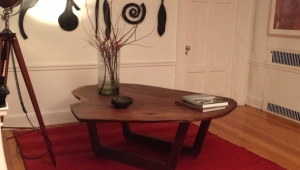Walnut Wood Slab Coffee Table