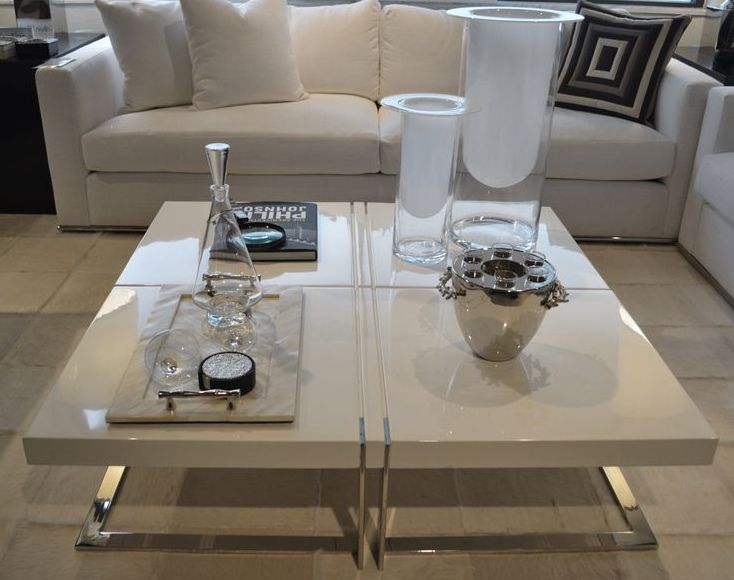 White Lacquer Coffee Table Design