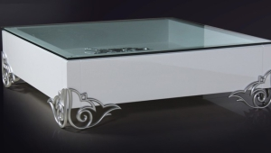White Lacquer Coffee Table With Original Feet