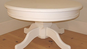 White Pedestal Coffee Table
