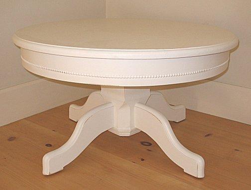 White Pedestal Coffee Table