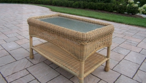 Wicker Coffee Table For Outdoors