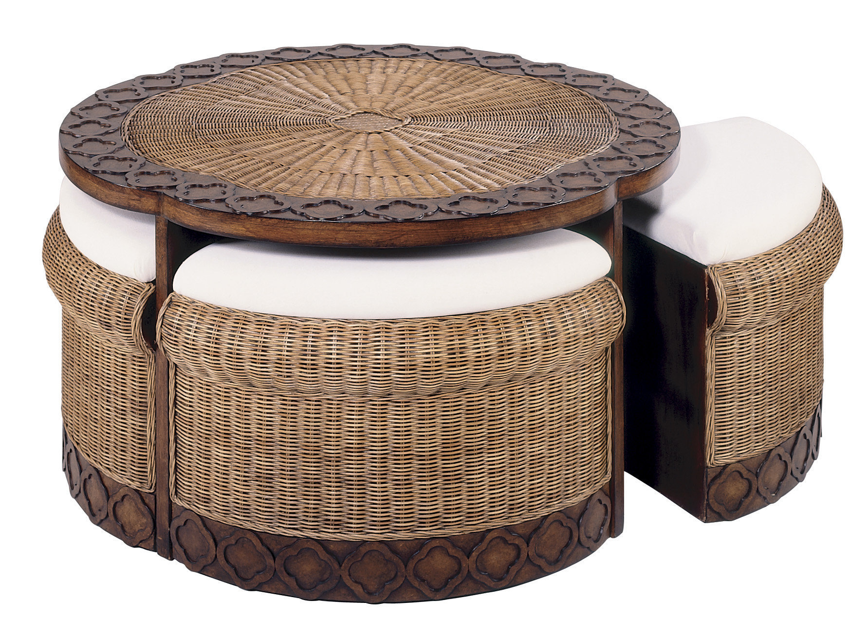 - Wicker Coffee Tables With Ottomans
