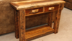 Wild Wood Rustic End Table