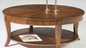 Wooden Circular Coffee Table
