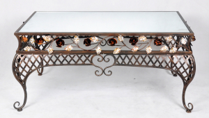 Wrought Iron Coffee Table With Mirror Top