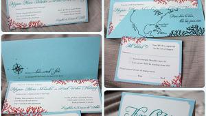 Beach Wedding Invitation Design