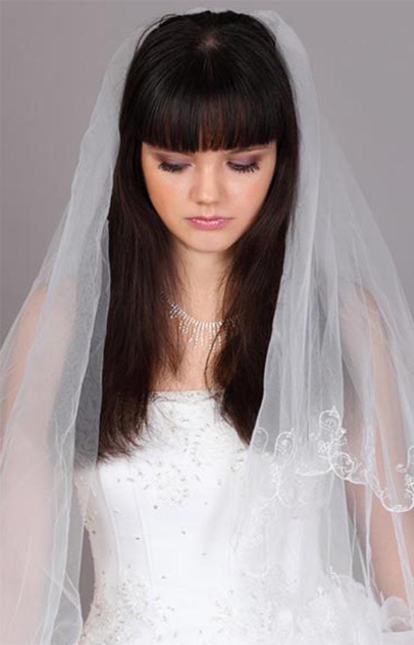 Black Long Bridal Hair