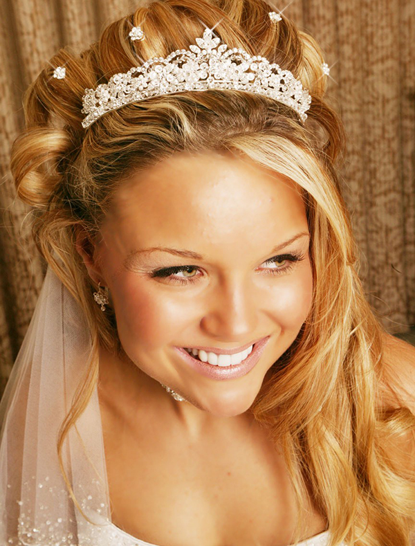 Blonde Long Bridal Hair