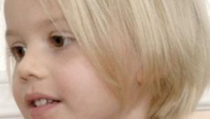 Blonde Short Hair Cut For Kid
