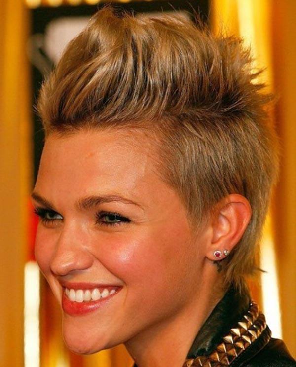 Blonde Short Spiky Hair