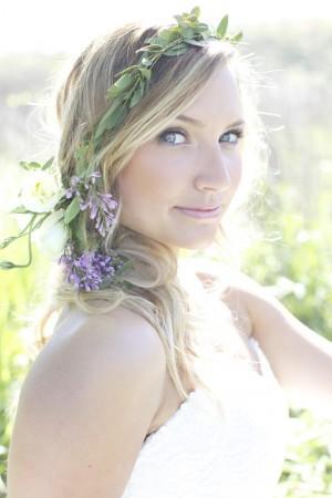 Bohemian Blooms Wedding Hairstyles Using Flowers1