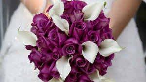 Creative Purple Bridal Bouquet