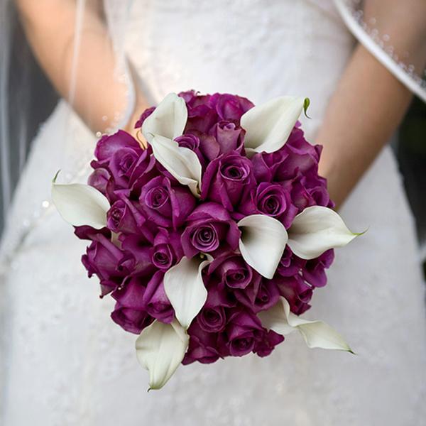 Creative Purple Bridal Bouquet