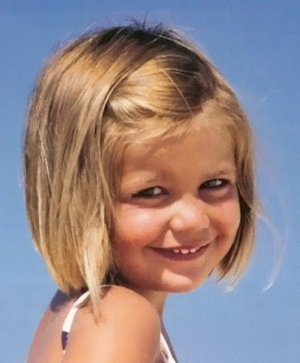 Cute Short Blonde Kid Hairstyle For Girl