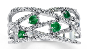 Emerald Diamond Engagement Rings